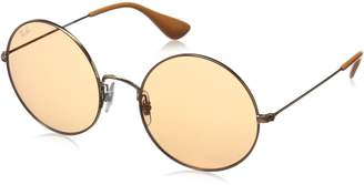 Ray-Ban Women's Metal Woman Round Sunglasses, Shiny Copper