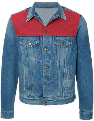 Ports V colour panel denim jacket