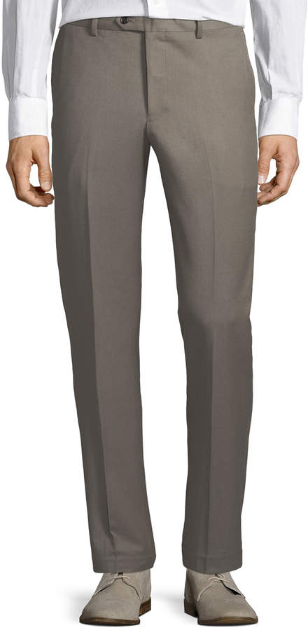 Tailorbyrd Men's Cavalry Stretch Straight-Leg Pants, Khaki