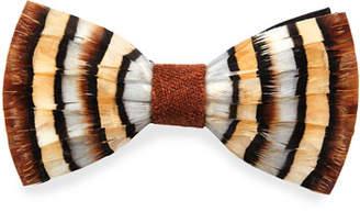 Brackish Bowties Chuka Partridge-Feather Bow Tie