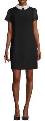 Karl Lagerfeld Paris Collar Lace Shift Dress