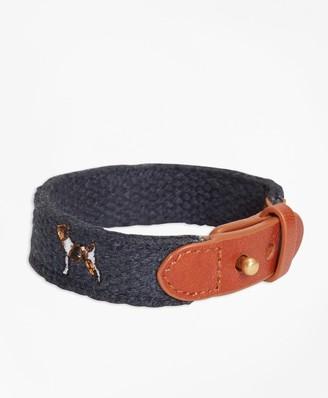 Brooks Brothers Embroidered Dog Bracelet