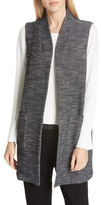 Eileen Fisher Long Organic Cotton Blend Vest