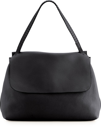 The Row Top Handle 14 Leather Flap-Top Shoulder Bag
