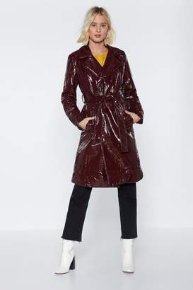 Nasty Gal I'm Totally Trenched Vinyl Coat