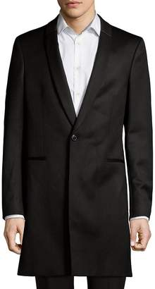HUGO BOSS Men's Shawl Collar Wool Long Coat