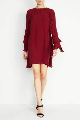 Nicole Miller Lera Bell-Sleeve Dress