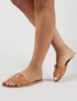 Public Desire Eyre Cut Out Slider in Tan