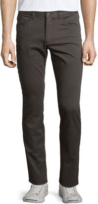 Vince Essential Five-Pocket Twill Pants, Gray