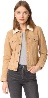 Levi's Suede Sherpa Trucker Jacket $325 thestylecure.com