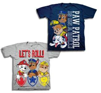 "PAW Patrol Paw Patrol ""Let's Roll"" Short Sleeve T-shirt, 2-pack (Toddler Boys)"