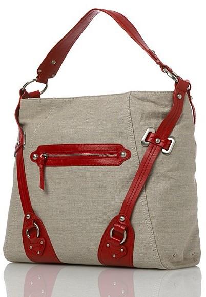 DKNY Linen/Leather Hobo