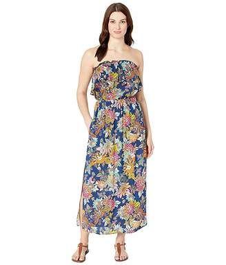 Bleu Rod Beattie Let The Sunshine In Rayon Bandeau Long Dress