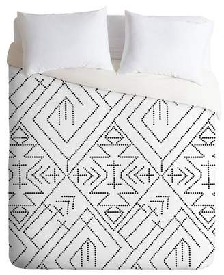 Deny Designs Vy La Cross Diamond King Duvet Cover - Black