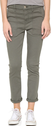 7 For All Mankind Military Skinny Pants $199 thestylecure.com
