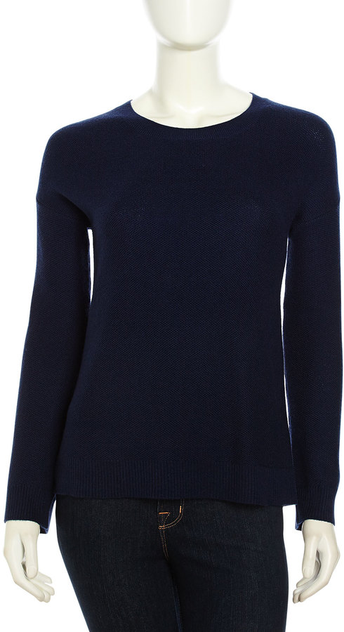 Joie Mosselle Long-Sleeve Soft Knit Sweater, Dark Navy
