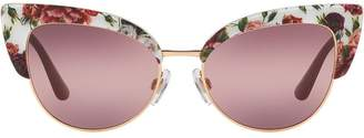 Dolce & Gabbana Eyewear cat-eye floral sunglasses
