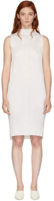Pleats Please Issey Miyake White Basics Pleated Sleeveless Dress