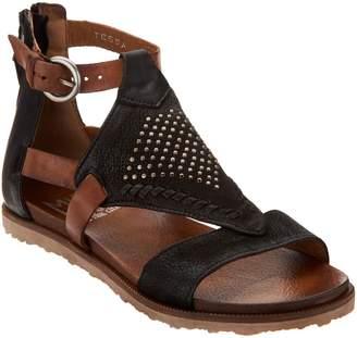 Miz Mooz Leather Cut Out Sandals w/ Stud Details - Tessa