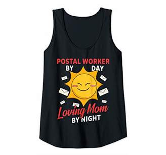 Womens Postal worker by day mom by night. Postal shirts for her Tank Top