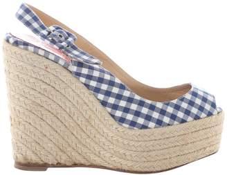 Christian Louboutin Blue Cloth Heels