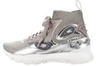 Valentino Embellished High-Top Sneakers w/ Tags