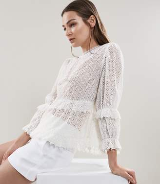 Reiss Madie Broiderie Anglaise Top