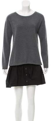 Milly Flared Knit Sweater