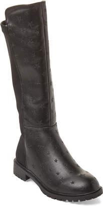 Steve Madden Kids Girls) Black Styler Star Knee-High Boots
