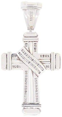 One Kings Lane Vintage WHITE GOLD AND DIAMOND CROSS PENDANT