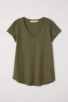 H&M V-neck T-shirt - Green