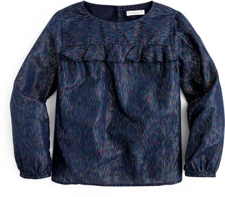 J.Crew crewcuts by Sparkly Ruffle Top