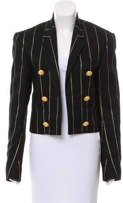 Balmain Structured Metallic Stripe Blazer