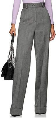 Pt01 Women's Juliet Herringbone Wool Wide-Leg Trousers