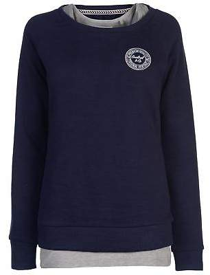Soul Cal SoulCal Womens Sig DblLyr SwtL81 Crew Sweater Jumper Pullover