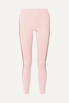 Vaara Tyler Striped Stretch Leggings - Pastel pink