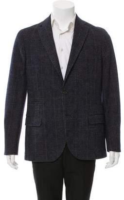 Eleventy Plaid Two-Button Blazer w/ Tags