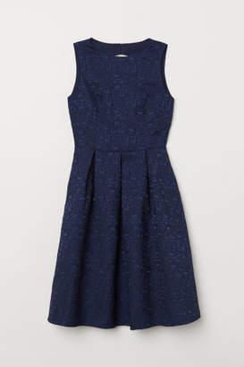 H&M Jacquard-weave Dress - Blue
