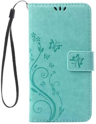 Sony BTJP Xperia XZ 5.2inch Elegant Wallet Case, Xperia XZ 2016 Release Beautiful Case,Fancy Design Flower Butterfly Pattern Premium PU Leather Wallet Case with Wrist Strap Flip Case Cover with Screen Protector And Stylus Pen