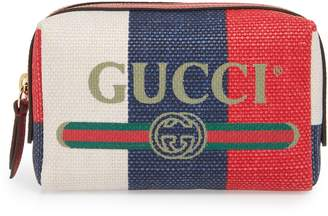 Gucci Linea Merida Canvas Cosmetics Case