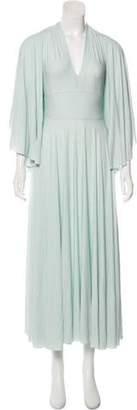 Fendi V-Neck Bell Sleeve Dress