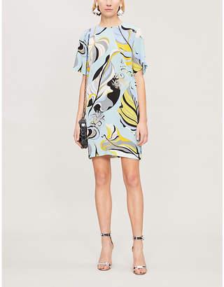 Emilio Pucci Signature-print silk-crepe dress