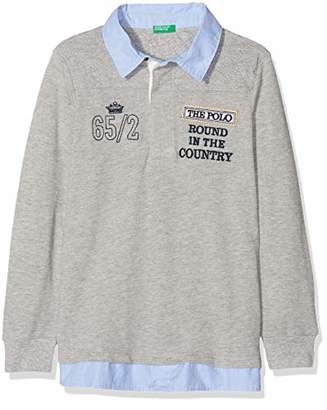 Benetton Boy's L/s Polo Shirt Shirt,(Manufacturer Size: 1y)