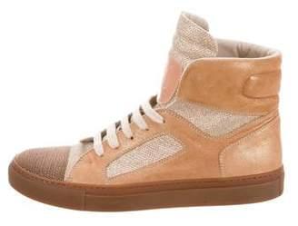 Brunello Cucinelli Monili Leather Sneakers