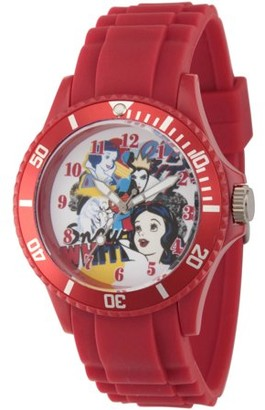 Disney Princess Snow White and Queen Women's Red Plastic Watch, Red Plastic Strap