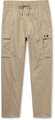 Nike Tapered Stretch Cotton-Blend Cargo Trousers