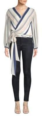 Ramy Brook Daya Silk Stripe Blouse