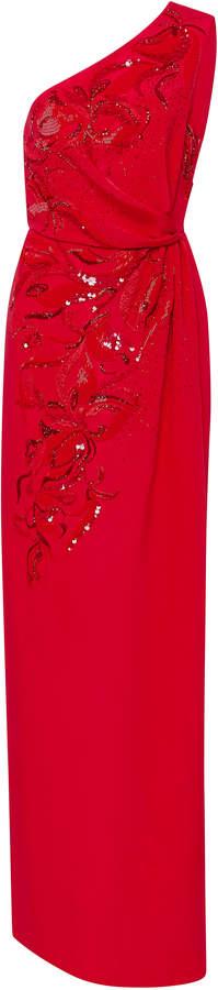 Emilio Pucci Embellished Asymmetric Gown