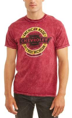 Automotive Chevy Men's Short Sleeve Graphic T-shirt, up to Size 2XL