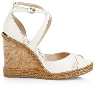 fee83c87cc Jimmy Choo Alanah Criss-Cross Peep Toe Platform Wedge Sandals
